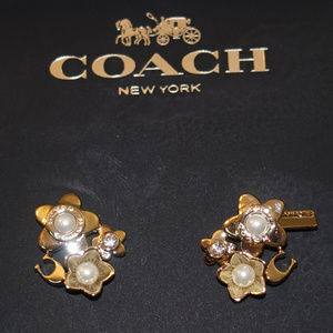 Coach Blooming Flora Cluster Earrings